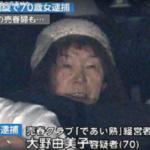 大野由美子容疑者の顔画像あり!72歳在籍の驚き買春クラブの実態を調査!