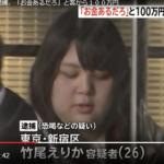 竹尾えりかの顔画像あり!SNSや動機、風俗店は?歌舞伎町で100万円恐喝した強烈な女!